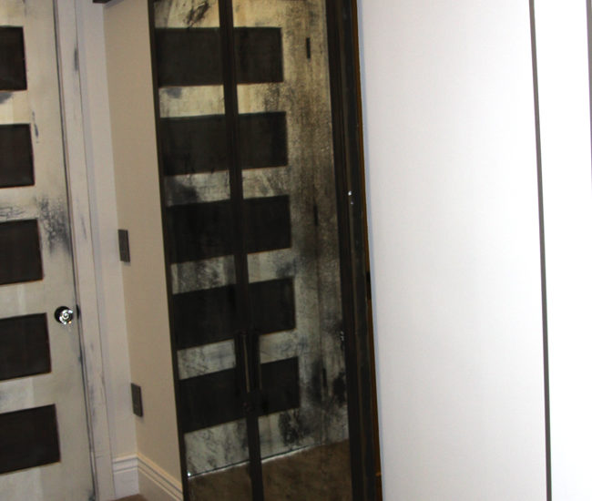 antique mirror closet barn doors
