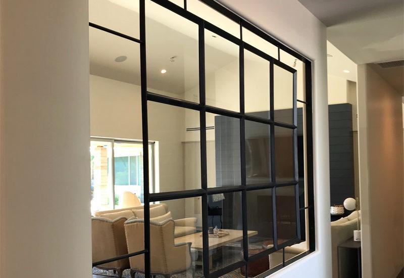 warehouse style interior window