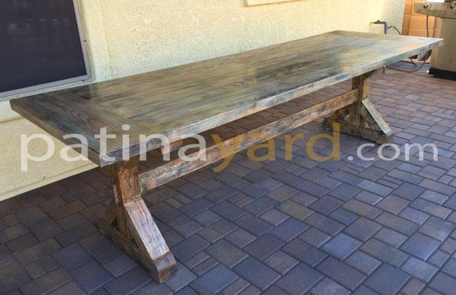 Custom Hardwood Trestle Table