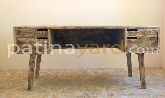 retro custom desk made of wood