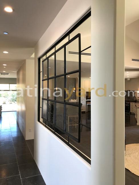 warehouse window feature with blacken steel