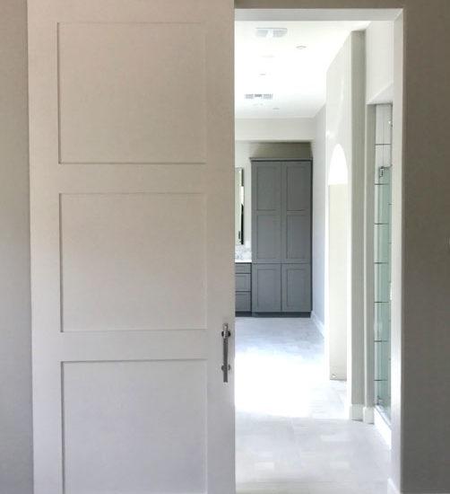3 panel shaker style barn door