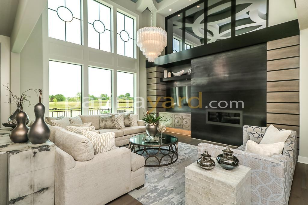 contemporary hot rolled steel fireplace