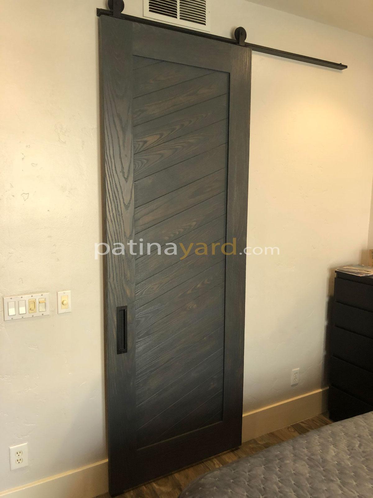 wood stained barn door