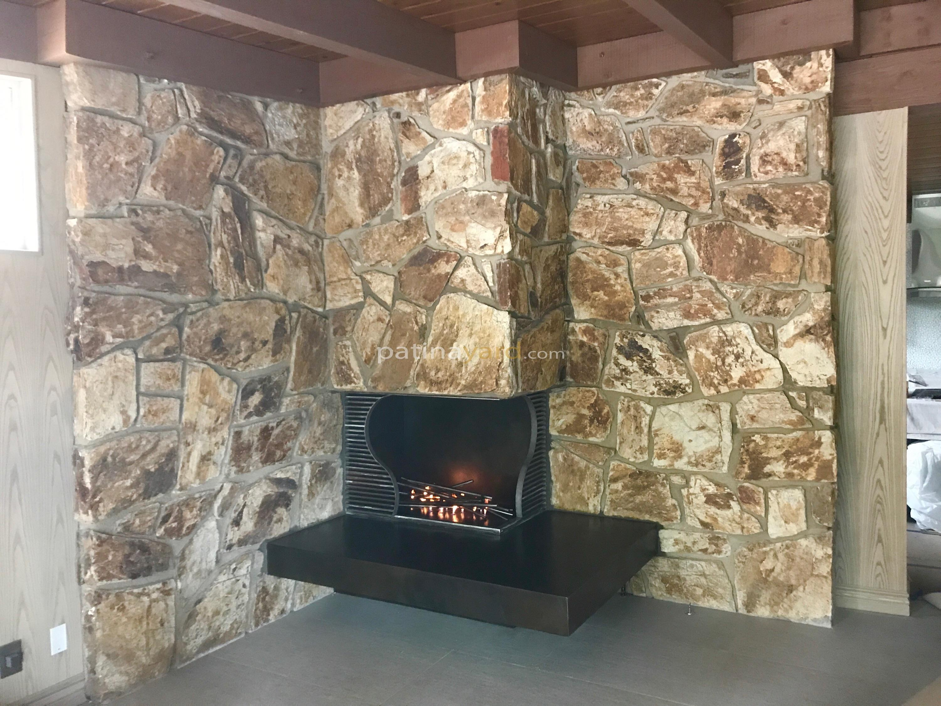 metal hearth and screen