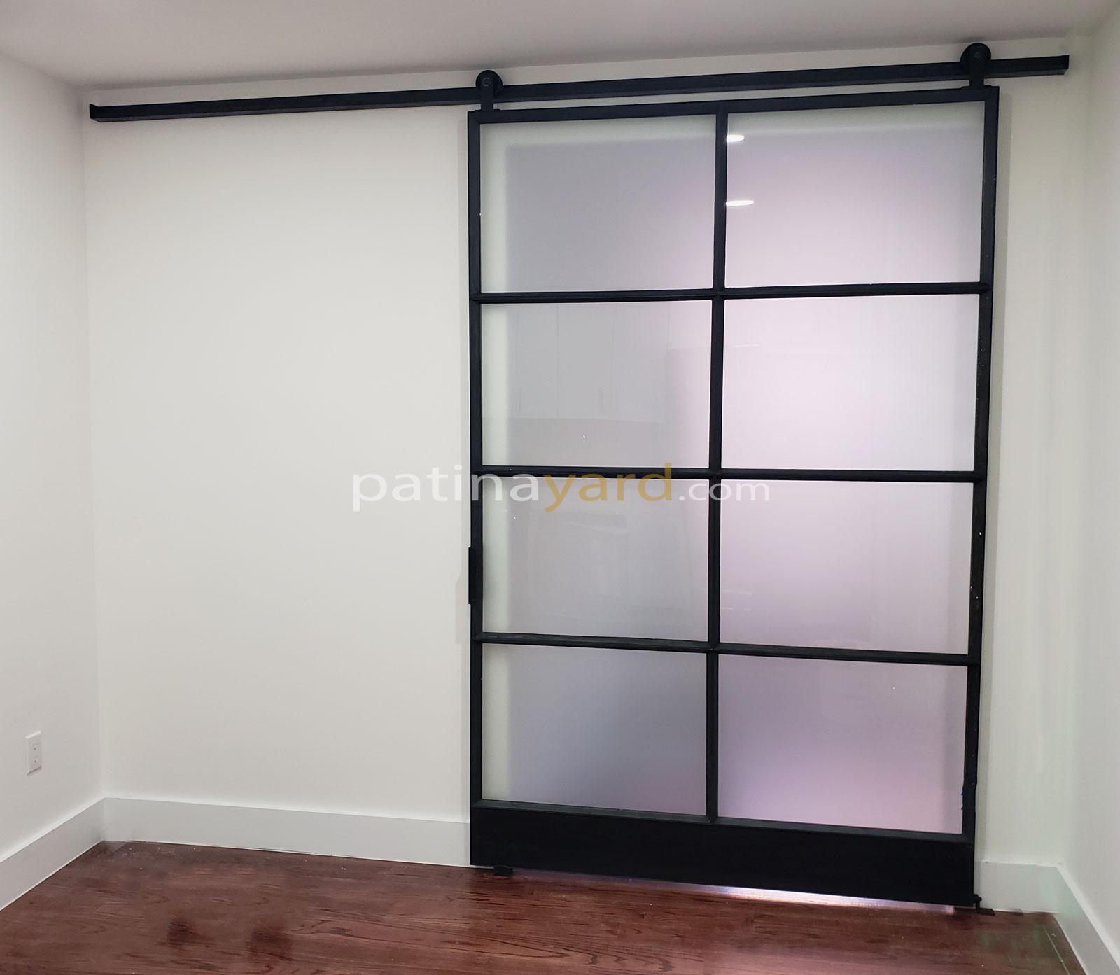 large single warehouse style with satin glass finish