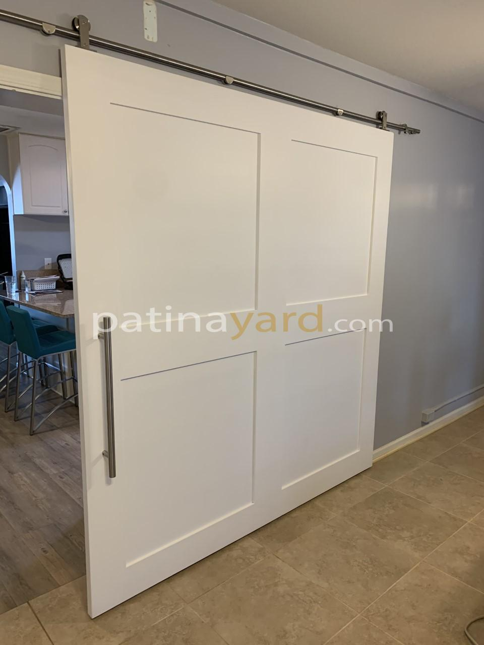 large 4 panel shaker barn door