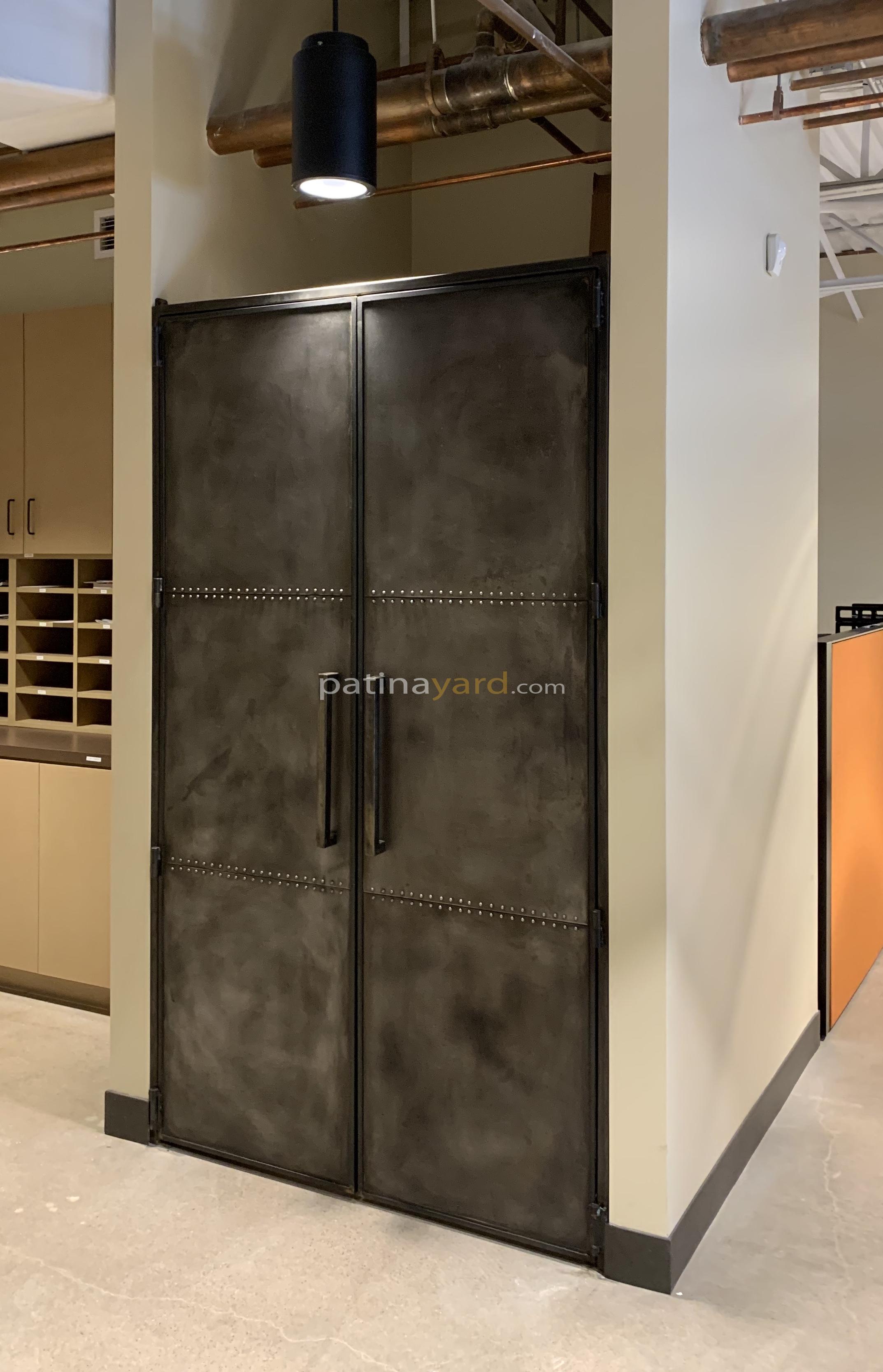 industrial zinc interior doors