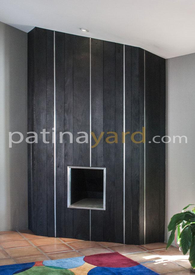 Charred Wood Fireplace