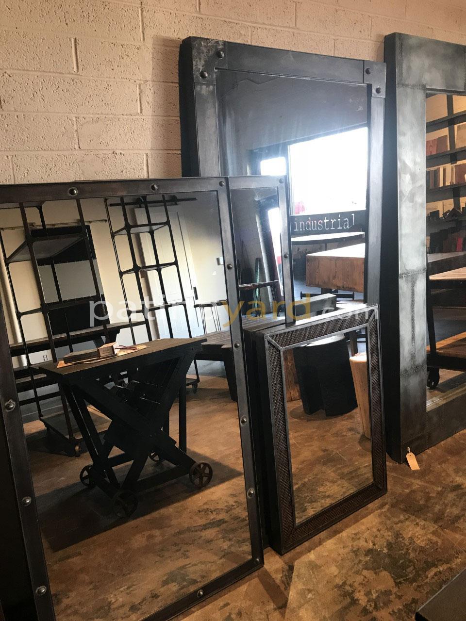 custom mirror and metal frames