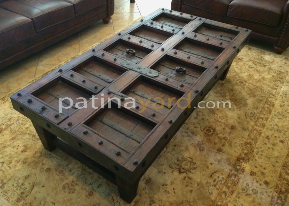 old world door coffee table