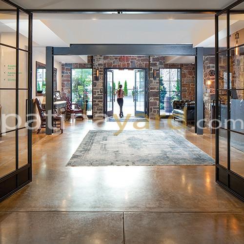metal and glass bi fold doors