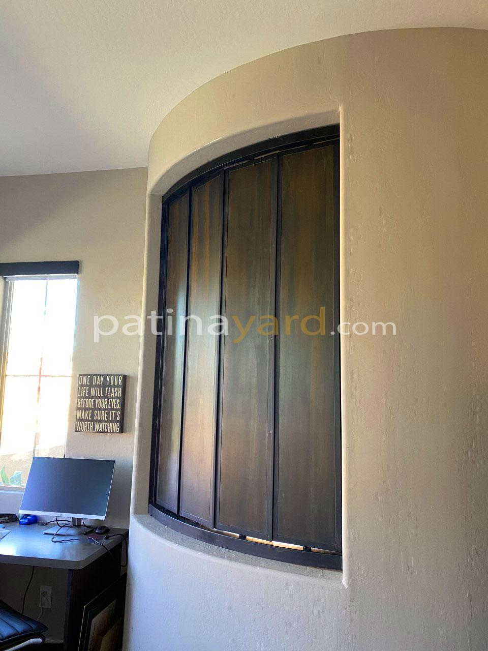 interior metal shutters