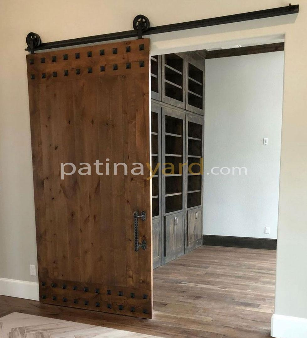 High Quality Stained Wood Barn Door