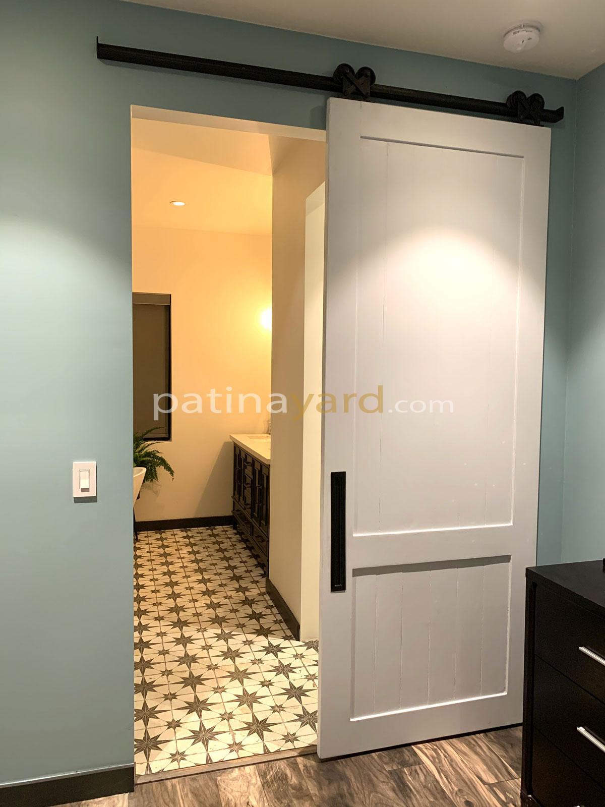 Painted wood shaker barn door
