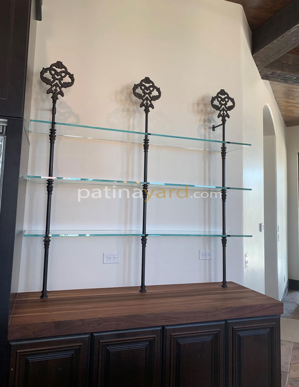 Custom Metal Bristo Shelves
