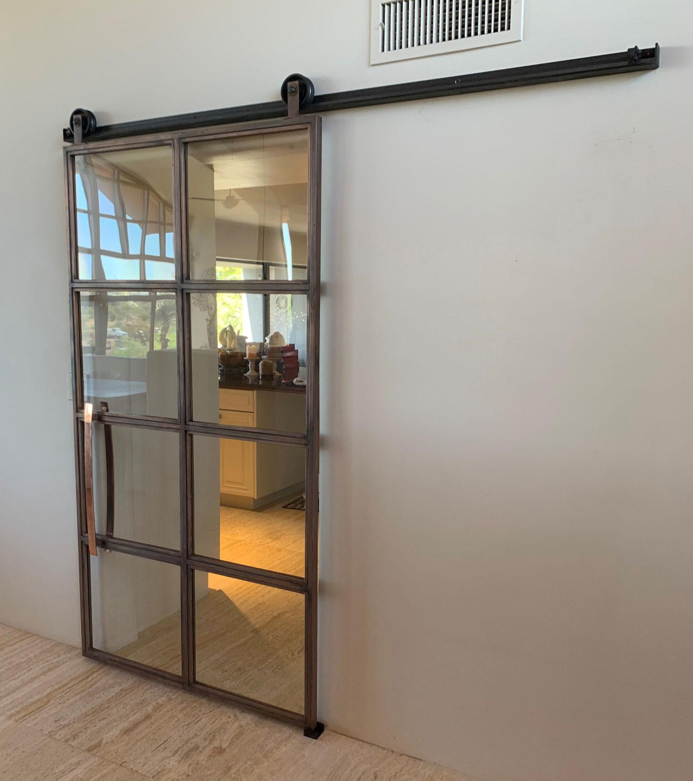 custom metal barn door